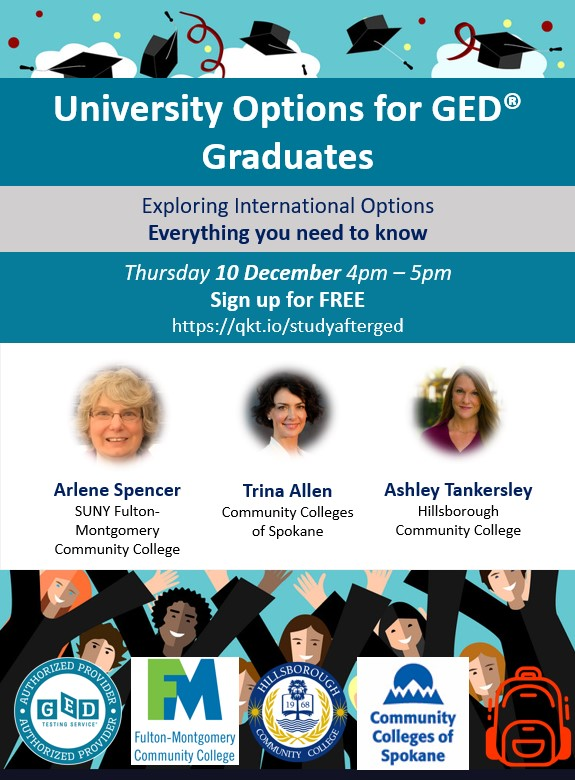 Webinar University Options for GED Graduates